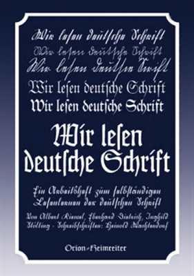 Dietrich/Kiewel/Stölt.: Wir lesen deutsche Schrift