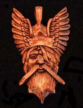 Anhänger Odinskopf in Bronze