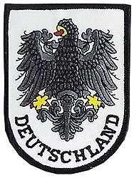 Aufnäher Deutschland-Schriftzug mit Adler