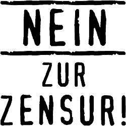 Holzstempel Nein zur Zensur!