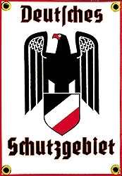 Emailleschild Deutsches Schutzgebiet