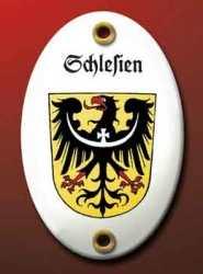 Emailleschild Schlesien