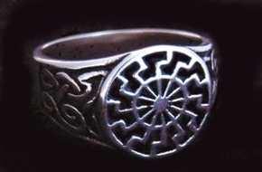 Ring Siegelring Schwarze Sonne
