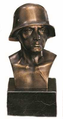 Bronzereplik Soldatenbüste