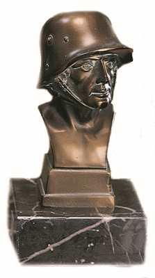Bronzereplik Soldatenbüste klein
