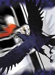 Kunstdruck Adler vor Reichskriegsflagge