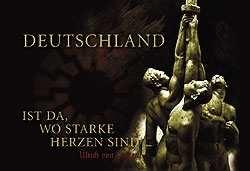 Kunstdruck Deutschland ist da, wo starke Herzen...