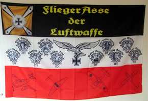 Fahne Flieger Asse der Luftwaffe