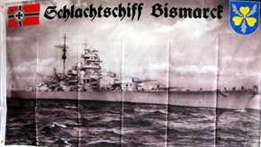 Fahne Schlachtschiff Bismarck