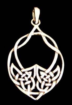 Anhänger Keltisches Herz Silber
