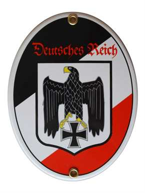 Emailleschild Deutsches Reich