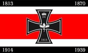 Fahne zum 200jährigen Jubiläum d. Eisernen Kreuzes