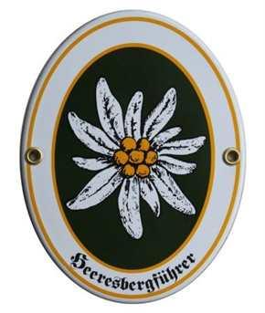 Emailleschild Heeresbergführer