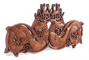Zwei keltische Hirsche