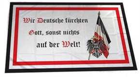 Fahne Wir Deutsche fürchten nur Gott...