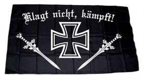 Fahne Eisernes Kreuz - Klagt nicht, kämpft!