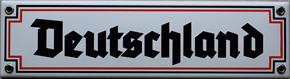 """Emailleschild """"Deutschland"""""""