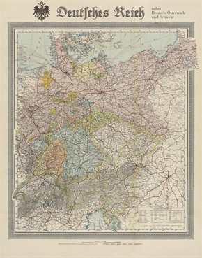 """Bildwandkarte """"Deutsches Kaiserreich"""""""