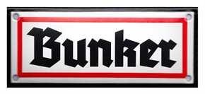 """Emailleschild """"Bunker"""""""