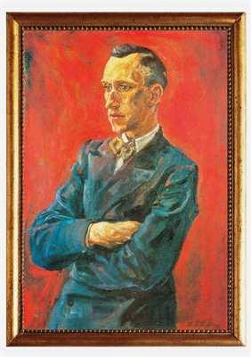 Kunstdruck Portrait von Ernst Jünger