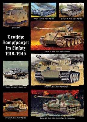 Kunstdruck Deutsche Kampfpanzer im Einsatz