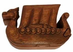 Schatzkästchen Wikinger Drachenboot