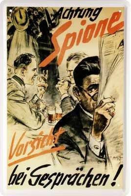 Werbeschild Achtung Spione - Vorsicht bei...