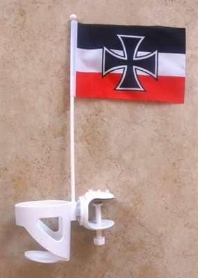 Getränkehalter mit Flagge Gösch der Kriegsmarine