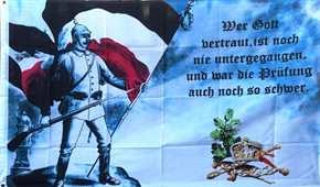 """Fahne """"Wer Gott vertraut..."""""""