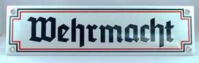 Emailleschild Wehrmacht