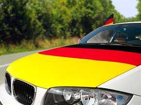 """Überziehfahne """"Deutschland"""" für die Motorhaube"""