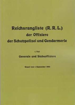 (R.R.L.) der Offiziere, Schutzpolizei, Gendarmerie