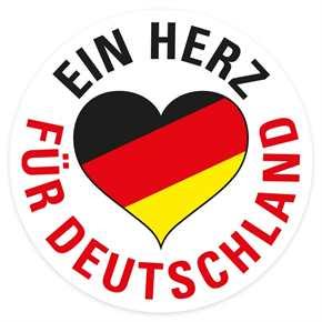 Aufkleber Ein Herz für Deutschland s/r/g