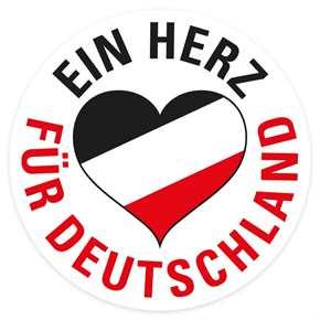 Aufkleber Ein Herz für Deutschland s/w/r