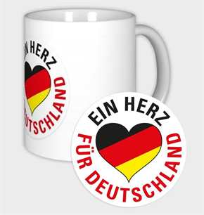 Tasse Ein Herz für Deutschland s/r/g