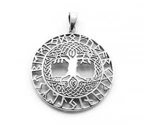 Anhänger Baum des Lebens mit Runen