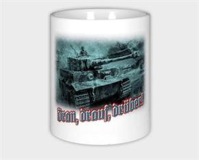 Keramiktasse/ Kaffeepott - Dran, drauf, drüber!