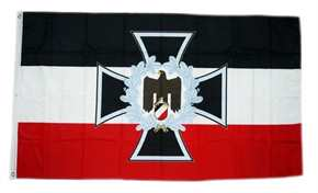 Fahne Eisernes Kreuz Adler mit Ehrenkranz