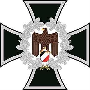Aufkleber Eisernes Kreuz Adler Ehrenkranz