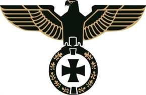 Aufkleber Adler Eisernes Kreuz, gold