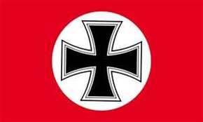 Fahne Eisernes Kreuz in weißem Kreis