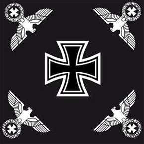 Fahne Eisernes Kreuz mit vier Reichsadlern schwarz