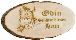 Holzscheibe Odin schütze dieses Heim