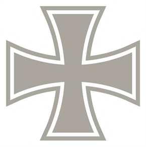 Aufkleber Eisernes Kreuz, silber