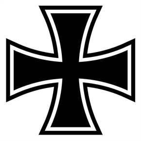 Aufkleber Eisernes Kreuz, schwarz