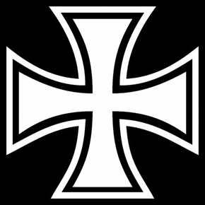 Aufkleber Eisernes Kreuz, weiß