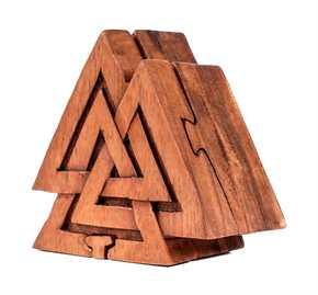 Schmuckdose aus Holz - Wotansknoten