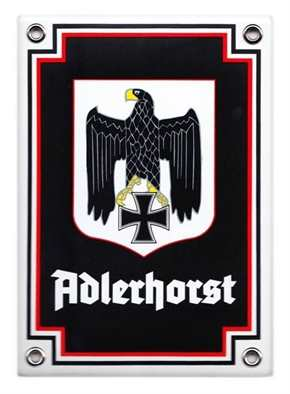 Emailleschild Adlerhorst