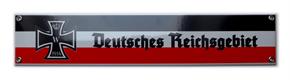 Emailleschild Deutsches Reichsgebiet