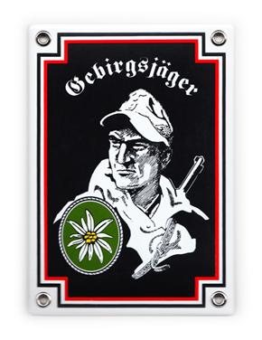 Emailleschild Gebirgsjäger II